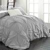 Halperina Floral Pinch Pleat Ruffled Comforter Set (6-Piece)