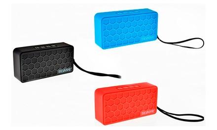 Altavoz bluetooth con micrófono en formato Brick por 14,99 € (50% de descuento)