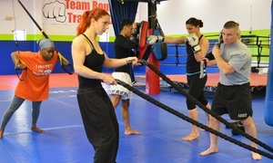 RoundKick Gym: Four Weeks or One Year of Body Shock Boot Camps at RoundKick Gym (Up to 56% Off)