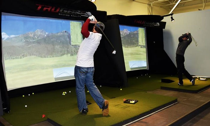 Leading Edge Golf - Leading Edge Golf: $39 for 90-Minute Indoor Golf Simulator Session for Up to Four People at Leading Edge Golf ($65Value)
