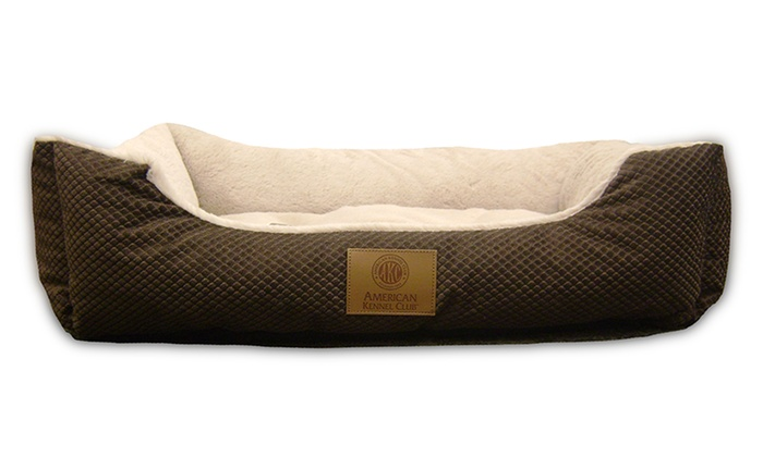 Akc Diamond Quilted Fur Pet Bed Groupon Goods