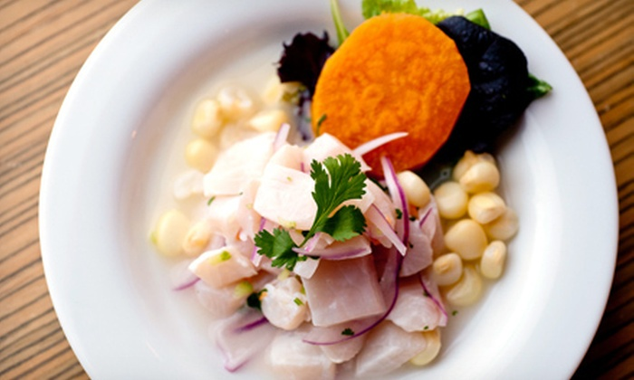 Between Peruvian Cafe & Lounge - Wicker Park: $30 for a Four-Course Prix-Fixe Peruvian Dinner for Two with Sangria at Between Peruvian Cafe & Lounge (Up to $92 Value)