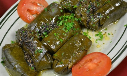 Mediterranean Cuisine at Cafe Delphi Greek and Lebanese Restaurant (50% Off). Two Options Available.