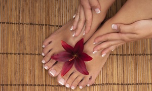 Salon Milano Nails: Margarita Pedicure with Regular or Shellac Manicure at Salon Milano Nails (Up to 66% Off)