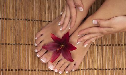 Pedicure en manicure, optioneel met gelnagels bij schoonheidssalon Azalya (vanaf € 14,99)