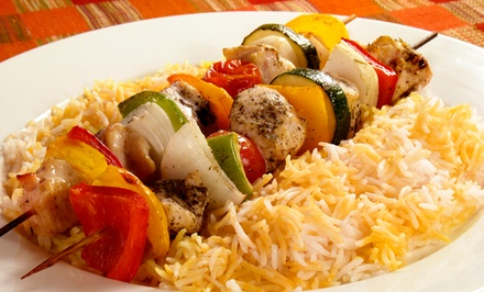 Indian and Fusion Cuisine for Two or Four at Sanam Kabob House (Up to Half Off)