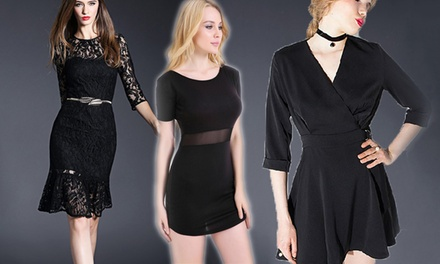 $18 for a Mesh Short Dress, $23 for a VNeck Skater Dress or $25 for a Mermaid Lace Dress