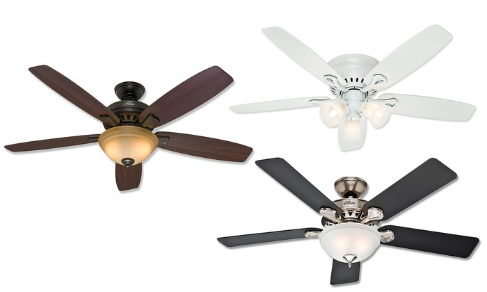 Hunter ceiling fan refurbished groupon goods hunter 5 blade ceiling fans refurbished mozeypictures Image collections
