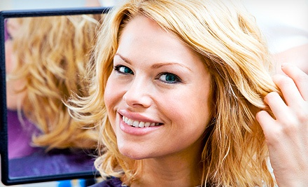 Blowout, or Cut, Style, and Conditioning with Color or Partial or Full Highlights at Bella's Hair Etc. (Up to 55% Off)