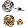 Love Knot Stud Earrings in 14K Yellow or White Gold