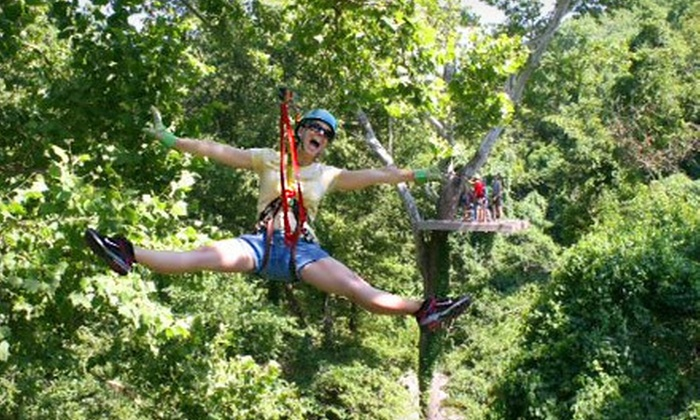 Zip Line USA - Ruth A: $59 for a Lantern-Light Zipline Tour with an ATV Ride from Zip Line USA ($120 Value)