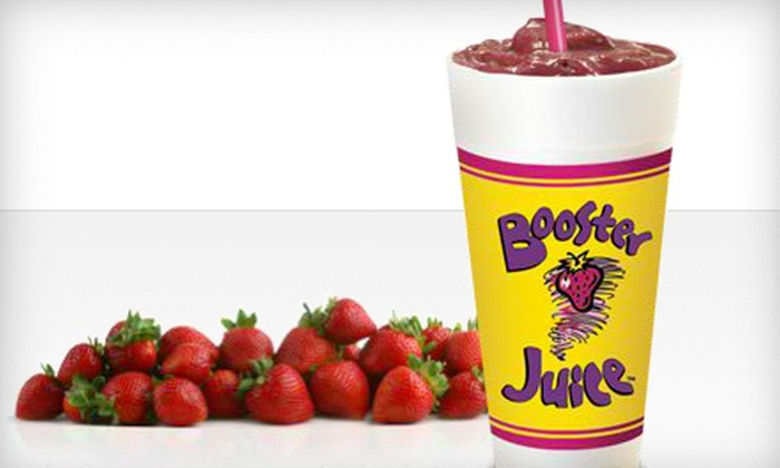 Booster Juice - Surrey: $21 for Six 24 Oz. Smoothies at Booster Juice (Up to $42 Value)