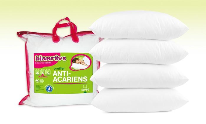 Lot de 2, 4 ou 6 oreillers Blanrêve anti-acariens dès 14,90€ (jusqu'à 49% de réduction)
