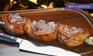 Bull Grill: All-You-Can-Eat Brazilian Steakhouse Dinner with Entrees, Sangria, and Dessert for Two or Four (Up to 42% Off)