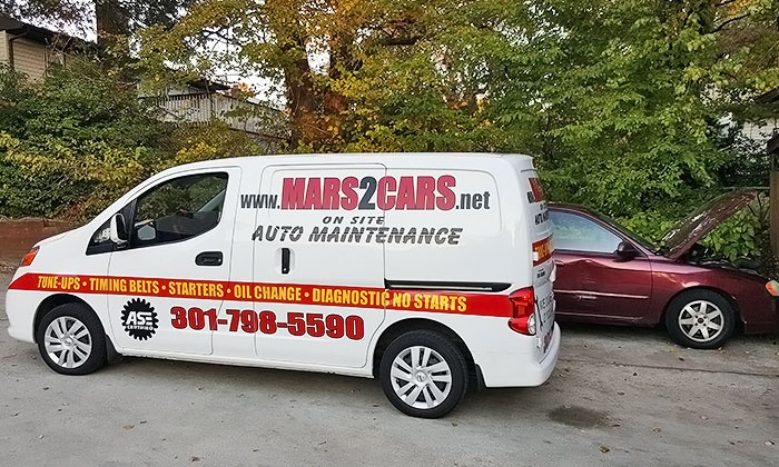 MARS2CARS - Washington DC: One or Three Mobile Synthetic Blend Oil Changes with 22-Point Inspections at Mars2Cars (Up to 63% Off)
