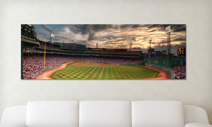 "Baseball Stadium Panoramic Gallery Wrapped Canvas Prints: $79.99 for a 48""x16"" Baseball-Stadium Gallery Wrapped Canvas ($170 List Price). 29 Options. Free Shipping and Returns."