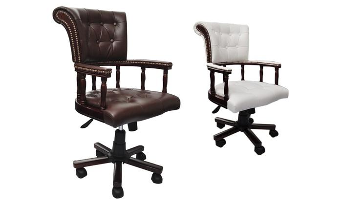 chaise de bureau capitaine groupon. Black Bedroom Furniture Sets. Home Design Ideas