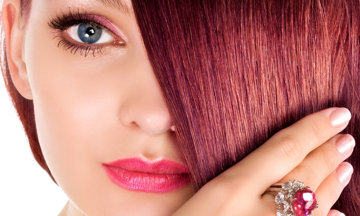 Glamourazzi Salon - Deer Park: Cut and Deep Condition, Cut and Color Touchup, or Three Keratin Blowouts at Glamourazzi Salon (Up to 52% Off)