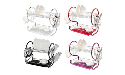 One £8.99 or Two £17.98 TwoTier Dish Drainer Set