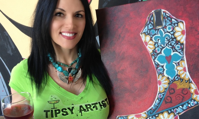 The Tipsy Artist: $20 for Four Three-Hour Online Painting Classes from The Tipsy Artist ($40 Value)