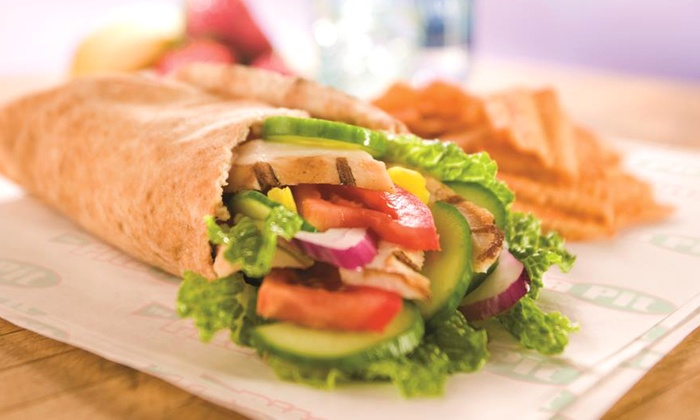 Pita Pit - East Lansing: $11 for a Pita Combo for Two with Chips and Drinks at Pita Pit (Up to $19.90 Value)