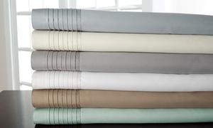 1,000-thread-count Lancaster Cotton Rich Pleated Hem 6-piece Sheet Sets