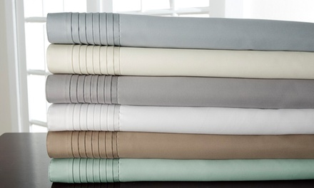 1,000-Thread-Count Lancaster Cotton Rich Pleated Hem 6-Piece Sheet Sets