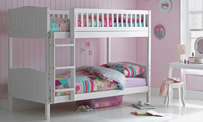 Paris Solid Wooden Bunk Bed with Optional Mattress