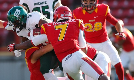 University of Calgary Dinos Football Game on October 3 or 24