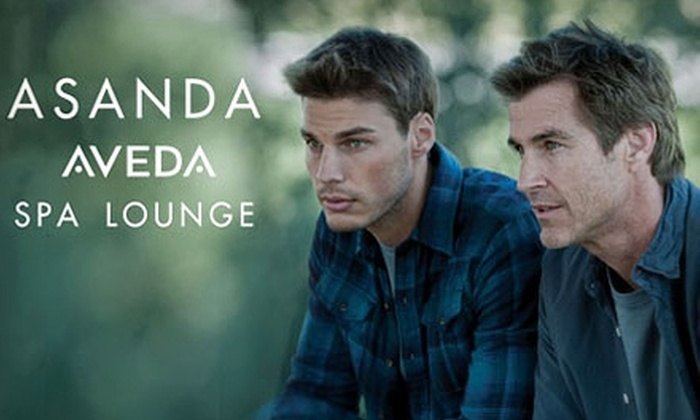 Asanda Spa Lounge - Asanda Spa Lounge: Men's Haircut with Hair and Scalp Treatment, 50-Minute Massage, or Both at Asanda Aveda Spa Lounge (Up to 68% Off)