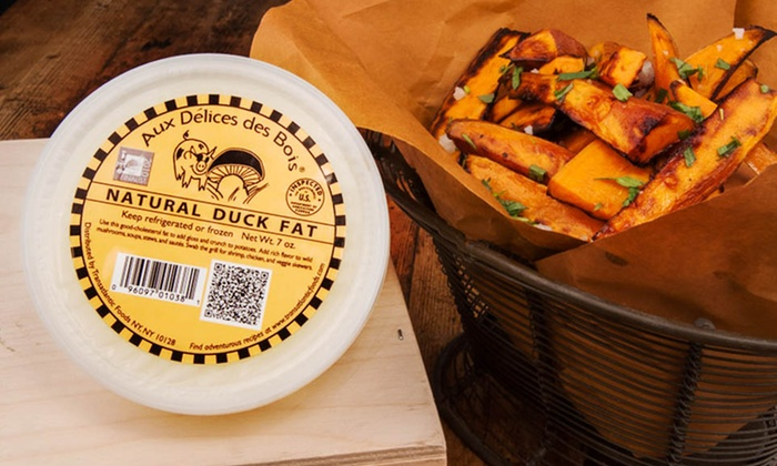 Aux Délices des Bois Truffle Butters and Natural Duck Fat: Three-Pack of Aux Délices des Bois Black Truffle Butter, White Truffle Butter, and Natural Duck Fat