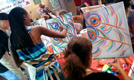 Three-Hour BYOB Painting Class for Two or Four at The Vintage Easel (Up to 54% Off)