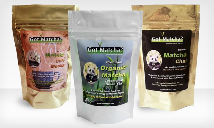 Got Matcha Tea Packages: $24.99 for a Got Matcha Tea Package with Matcha and Matcha Chai or Matcha Cafe Mocha ($179 List Price). Free Shipping.