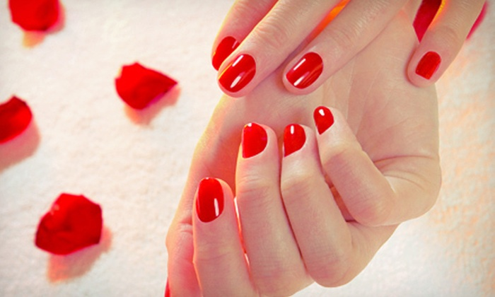 Caruso and Company Nail Spa - Conway: One or Three Peppermint Shellac Manicures at Caruso and Company Nail Spa (Up to 54% Off)