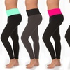 Women's Fold-Over Waistband Leggings in L/XL (6-Pack)