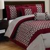 7-Piece Flocking Comforter Set