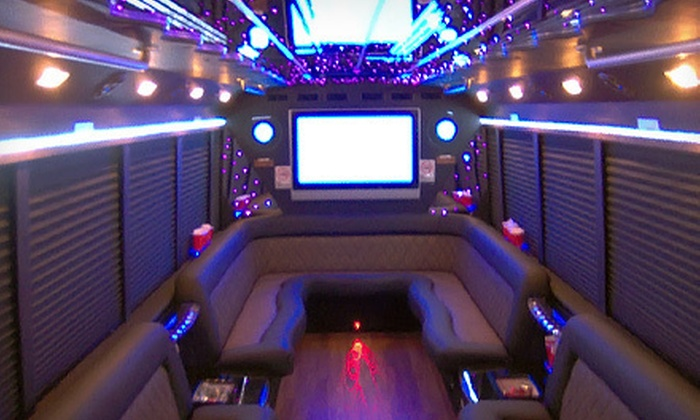 Tex Star - Dallas: Six-Hour BYOB Party-Bus Rental for Up to 16 or 24 People from Tex Star (Up to 62% Off)