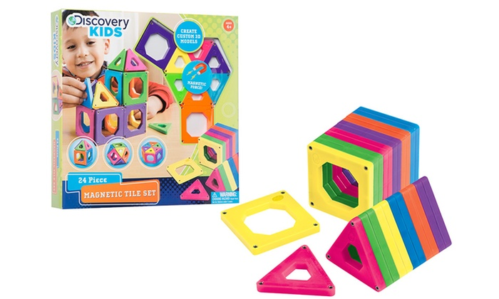 Discovery Kids  Piece Toy Magnetic Tiles