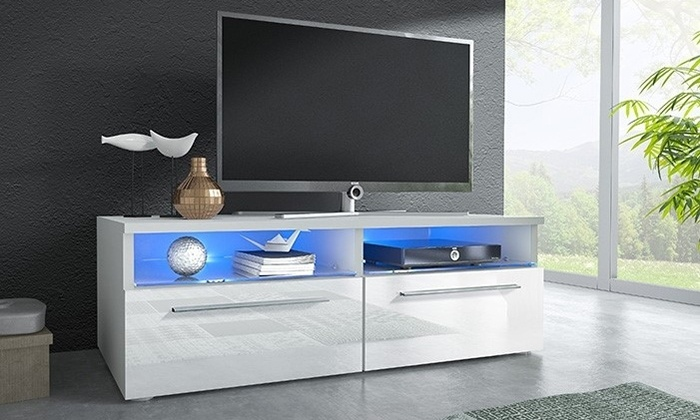 meuble tv led blau groupon shopping. Black Bedroom Furniture Sets. Home Design Ideas
