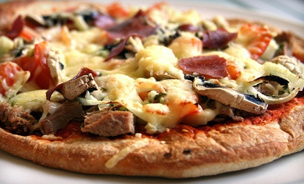 $16 for 12-Inch Gourmet Pizza and One Pitcher of Red or White Sangria at Grazie Pizzeria (Up to $38 Value)