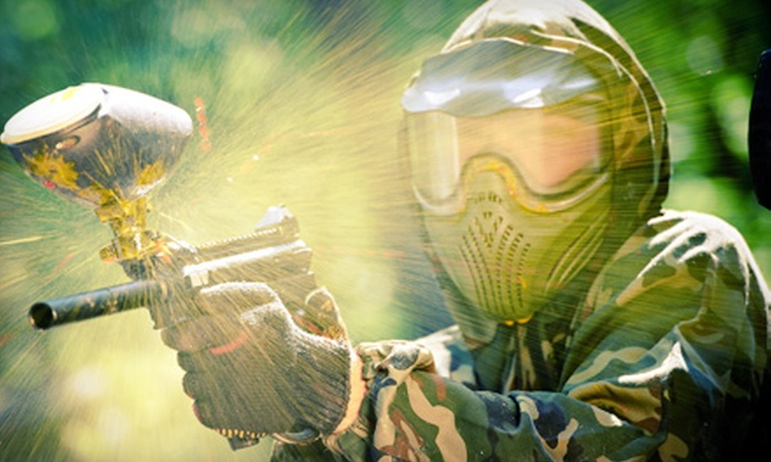 Big Indian Paintball - Perry: Paintball Package for 4 with Gear, or Package for 10 or 6 with Gear and Pizza at Big Indian Paintball (Up to 57% Off)