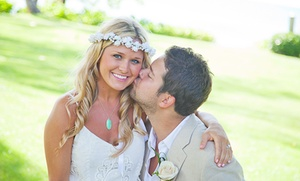 Wedding Day Hawaii: Hawaii Beach Wedding Package with Photography, Officiant, and Option for Permits from Wedding Day Hawaii (Up to 40% Off)