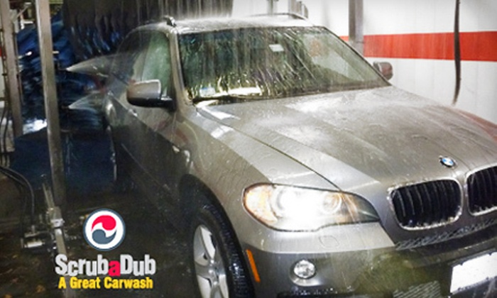 ScrubaDub Auto Wash Centers - Multiple Locations: $20 for Three The Works Washes at ScrubaDub Auto Wash Centers (Up to $54 Value). 15 Locations.