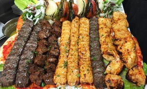 Kaza Maza Mediterranean Grill: Mediterranean Food for Two or Four at Kaza Maza Mediterranean Grill (52% Off)