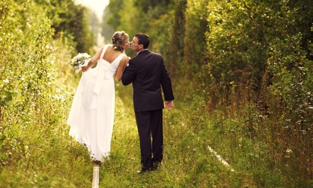 90Minute Wedding Photography Package with Retouched Digital Images from Dunne Right Photography (71% Off)