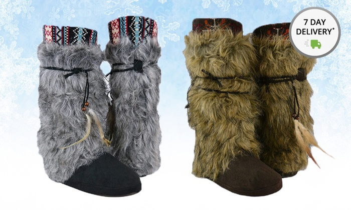 Muk Luks Elana Faux Fur Boot: Muk Luks Elana Faux Fur Boot. Multiple Options Available. Free Shipping and Returns.
