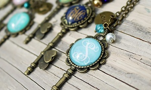 Up to 75% Off Monogrammed Key Necklaces from KraftyChix