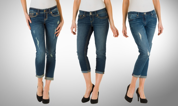 Seven7 Women's Cropped Jeans or Denim Leggings: Seven7 Women's Cropped Jeans or Denim Leggings. Multiple Styles and Colors Available. Free Returns.