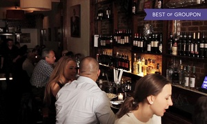 1742 Wine Bar: $29 for a Dinner with Two Entrees and One Bottle of Wine at 1742 Wine Bar ($80.90 Value)