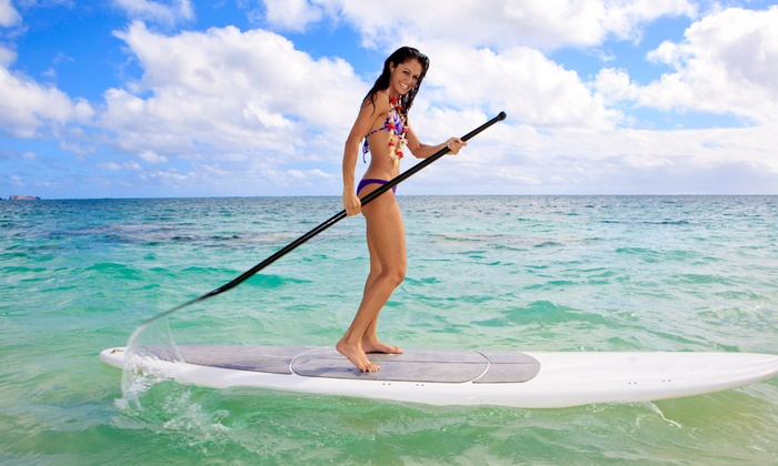 Why Not Paddle - Weaver Lake Beach: One Hour of Stand-Up Paddle-Boarding for One, Two, or Four at Why Not Paddle (Up to 50% Off)